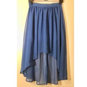 F21- Blue polka dot  maxi skirt